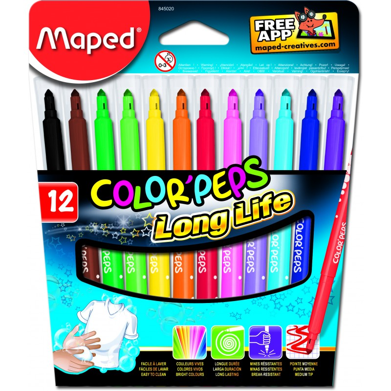 FLOMASTERI MAPED Color Pep 12