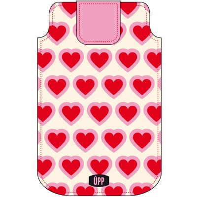 PHONE POUCH HEART REPEAT