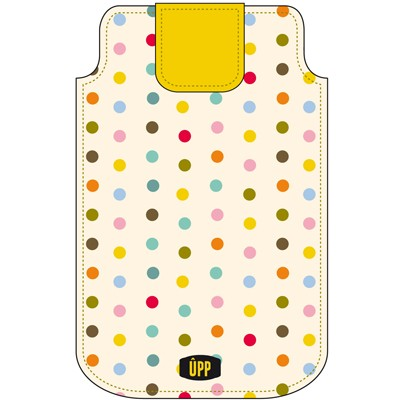 PHONE POUCH MINI DOTS ON CREAM