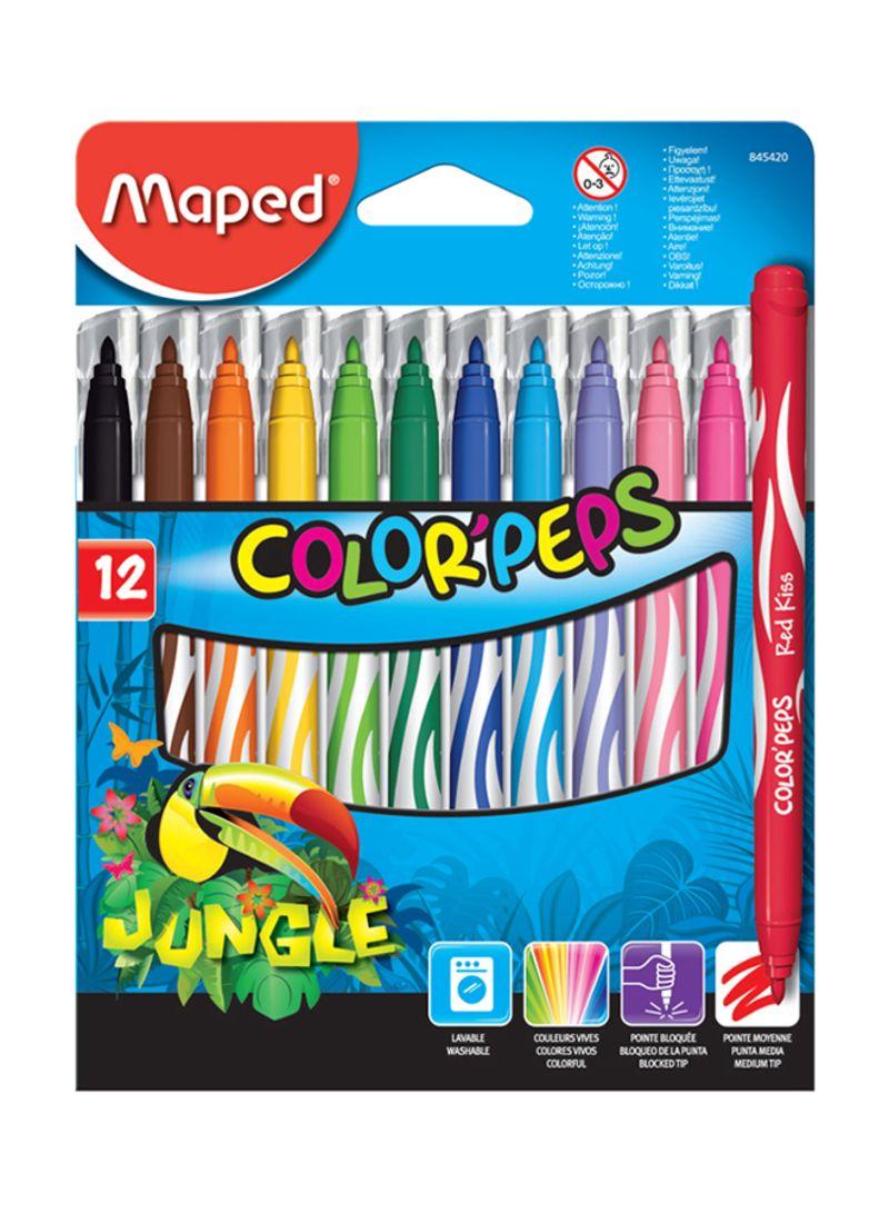 FLOMASTERI MAPED Jungle 12