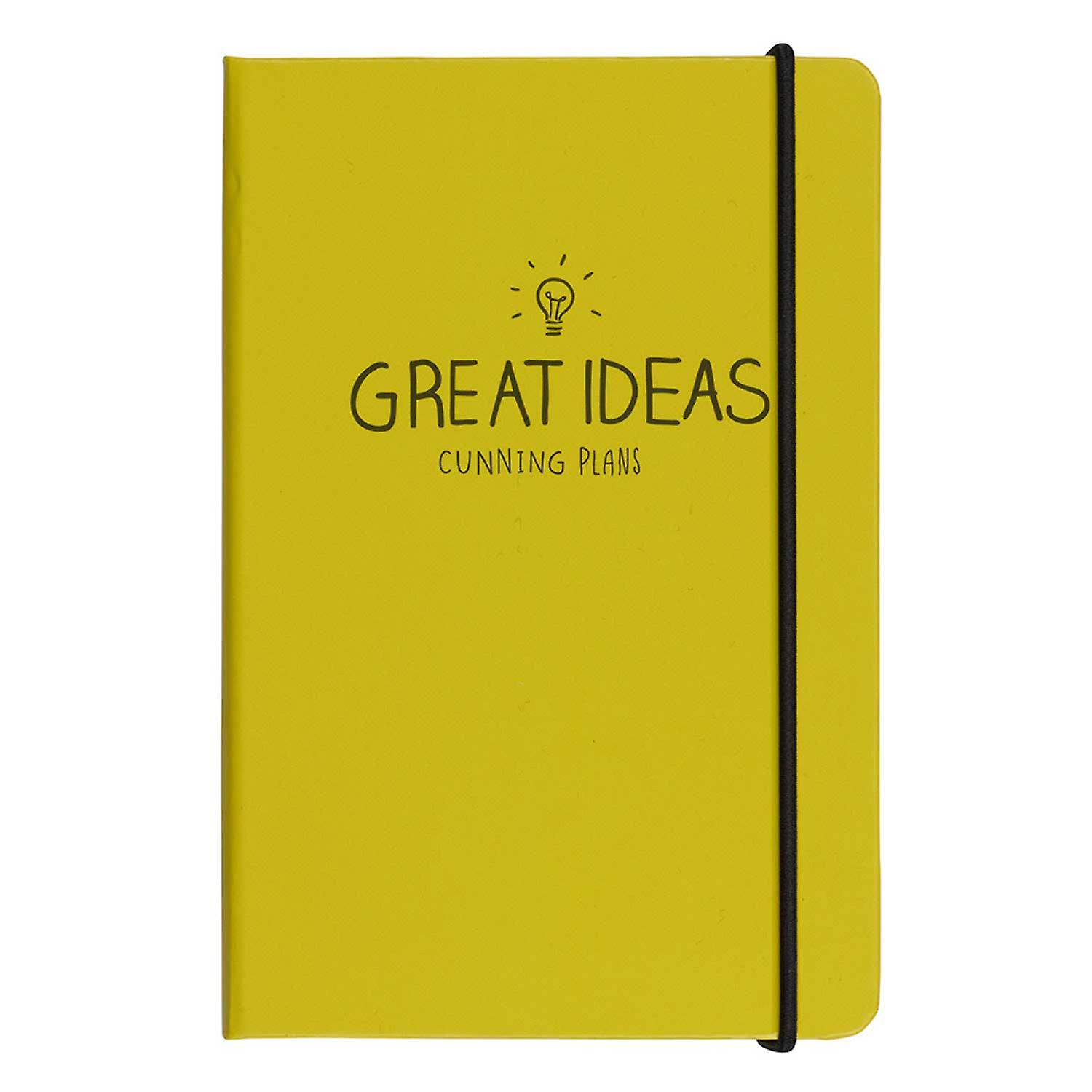 A6 GREAT IDEAS NOTBOK YELLOW