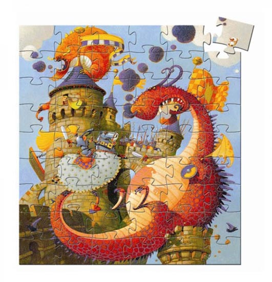 PUZZLE SILHOUETTE VAILLANT AND THE DRAGON 54 PCS