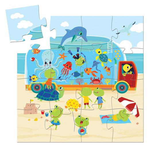 SILHOUETTE PUZZLE The Aquarium 16 pcs