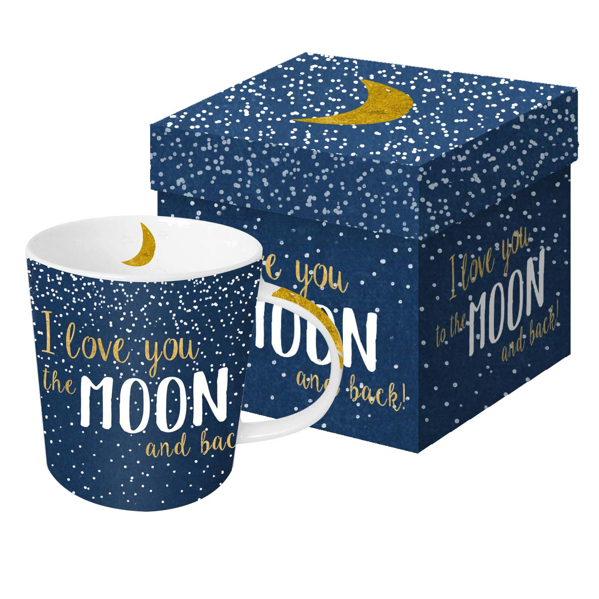 Šolja u poklon kutiji MOON LOVE Real gold