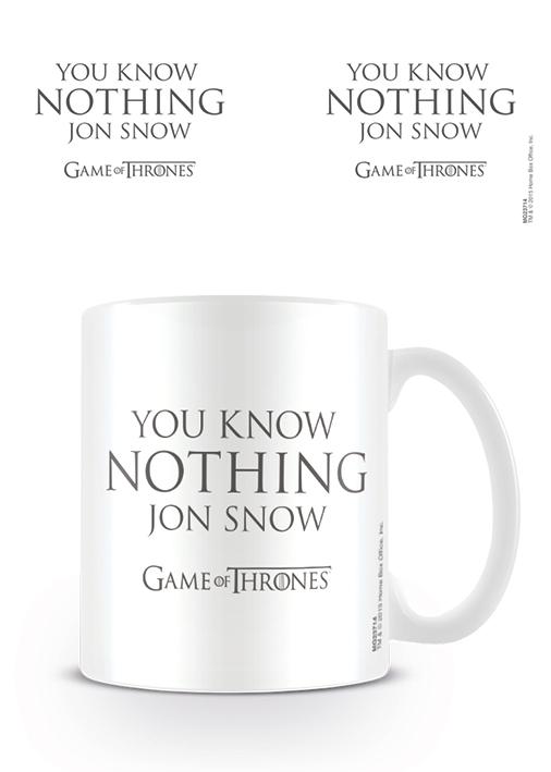 Šolja GAME OF THRONES You Know Nothing Jon Snow