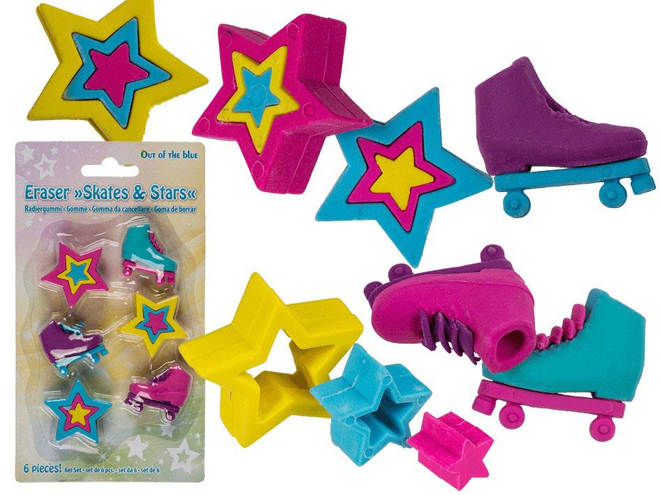 Set gumica za brisanje SKATES & STAR