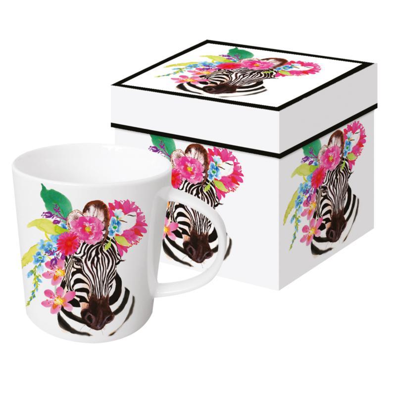 Šolja u poklon kutiji FLORA Zebra