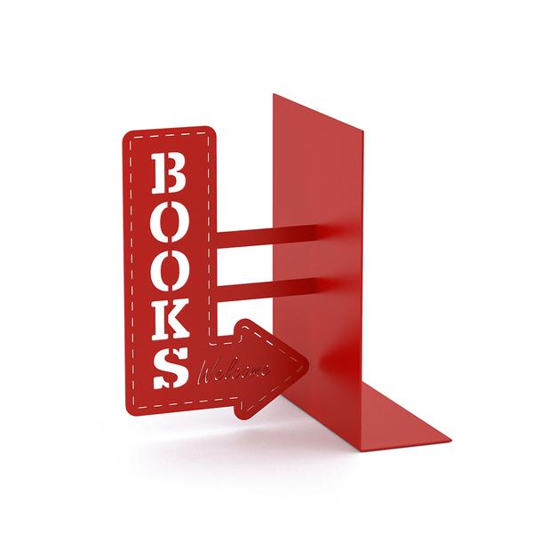 Držač za knjige BOOKSHOP red