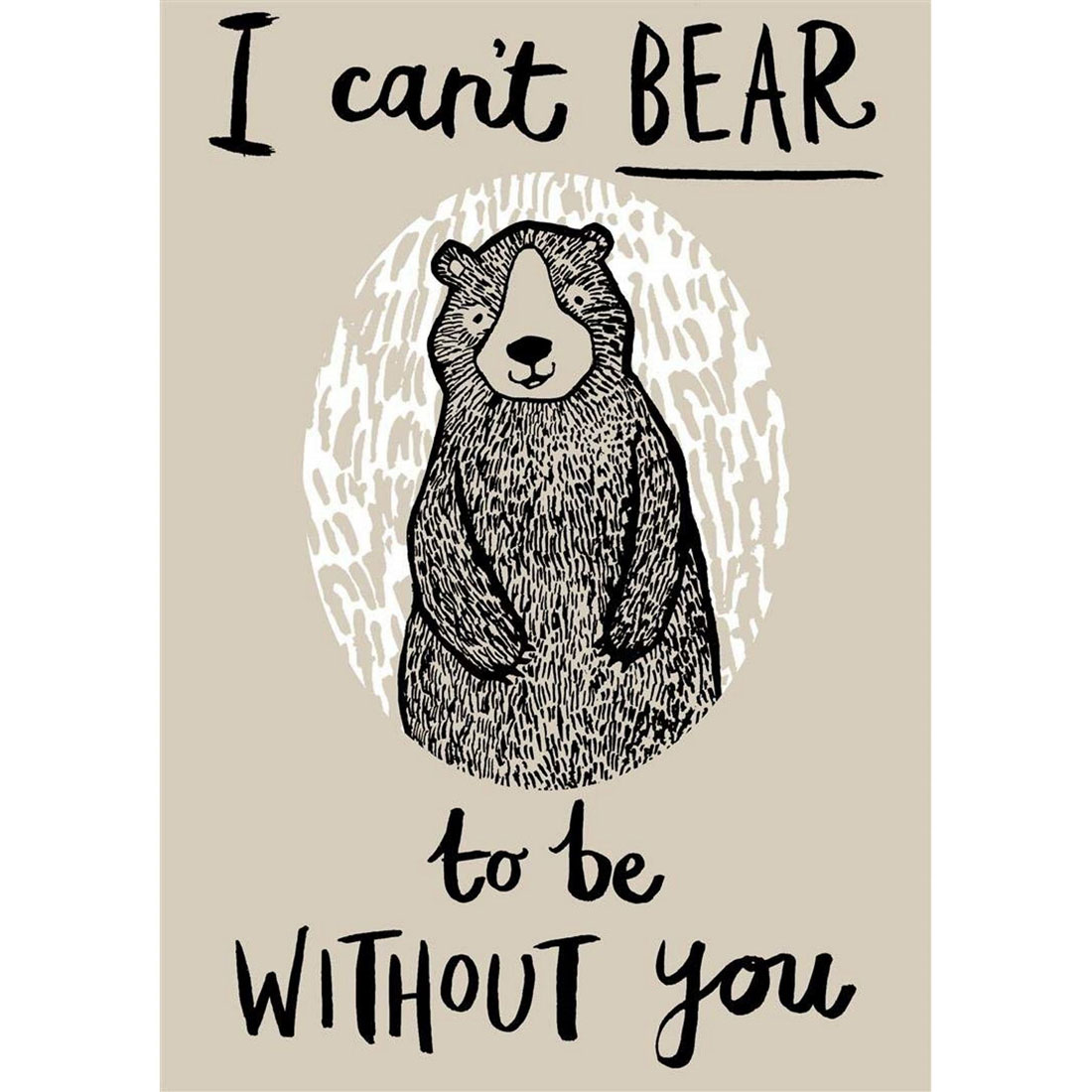 Kuhinjska Krpa CAN'T BEAR TO BE WITHOUT YOU