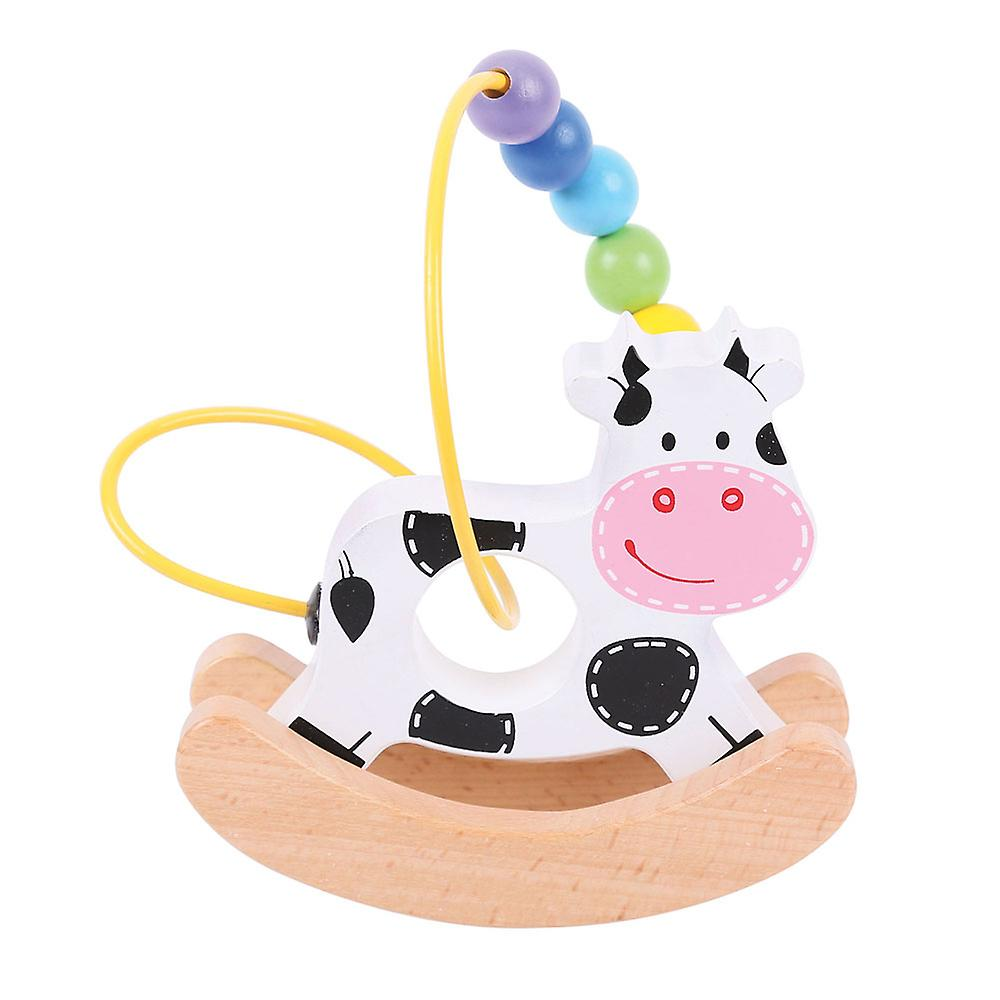 Dečija Igračka COW ROCKING BEAD FRAME