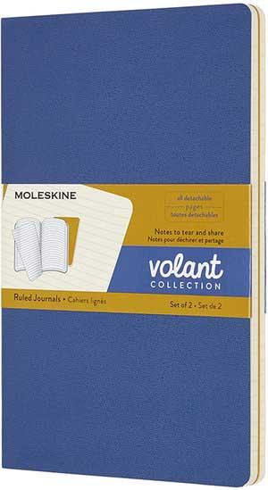 Notes VOLANT MOLESKINE Set od 2, Ruled, plava/žuta