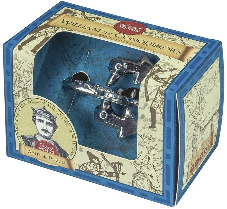 METAL AND WOODEN WILLIAM THE CONQUERORS ANTLER PUZZLE