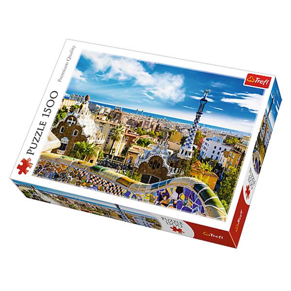 Puzzle TREFL Park Guell, Barcelona 1500