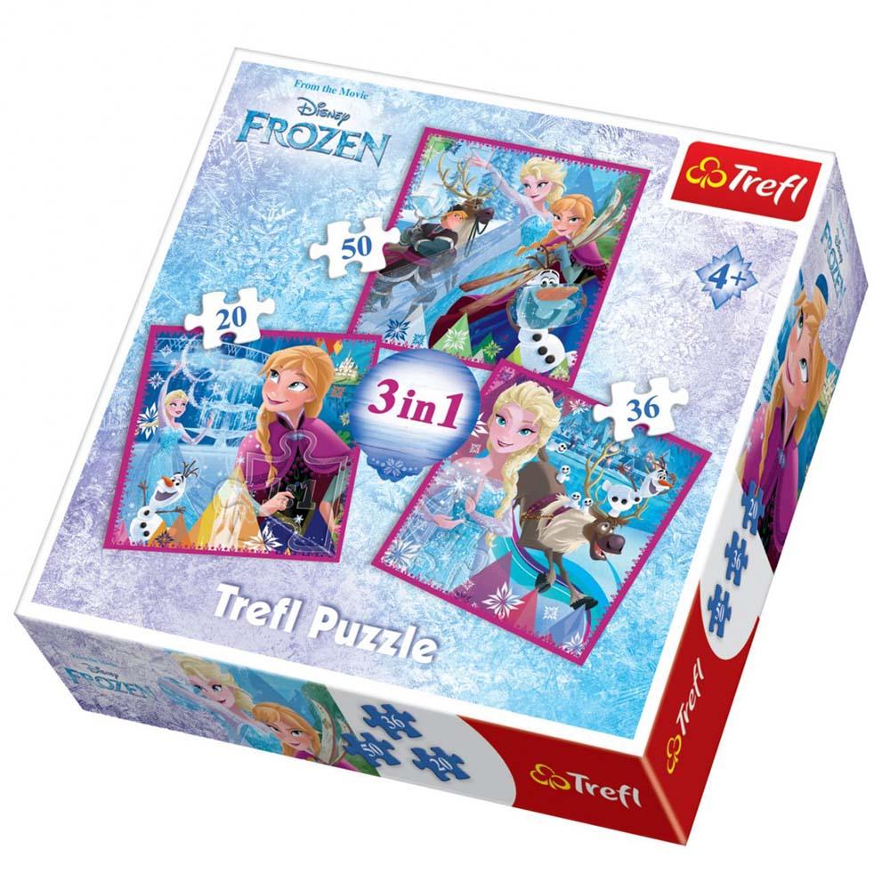 Puzzle 3 u 1 TREFL Frozen