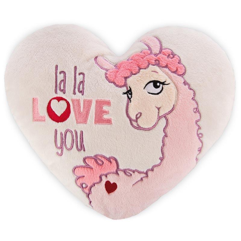 Jastuk u obliku srca LA LA LLAMA LOVE