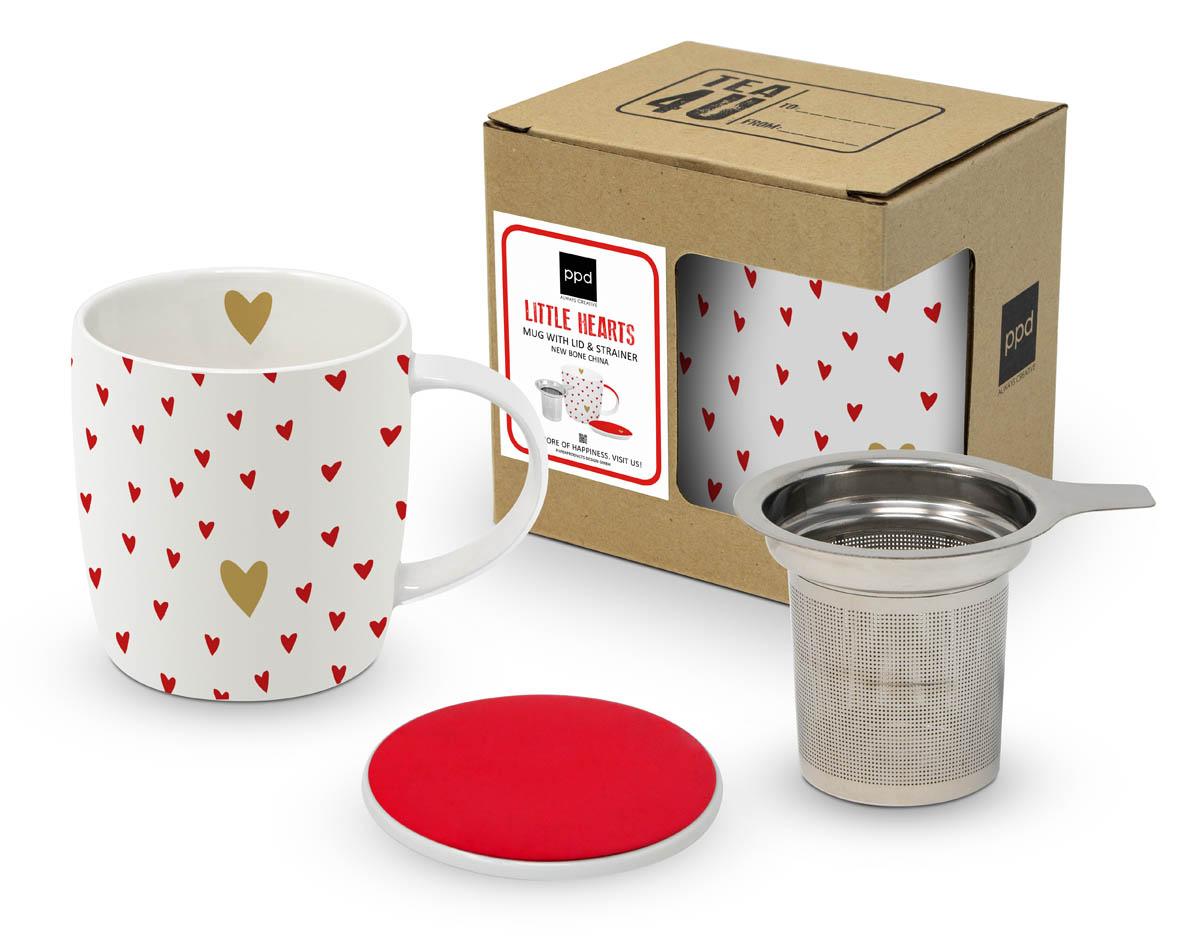 Set za čaj LITTLE HEARTS Real gold