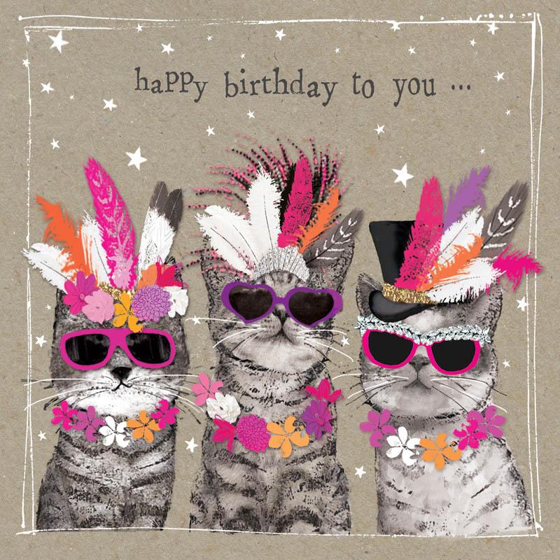 Rođendanska Čestitka FANCY PANTS THREE LADY CATS