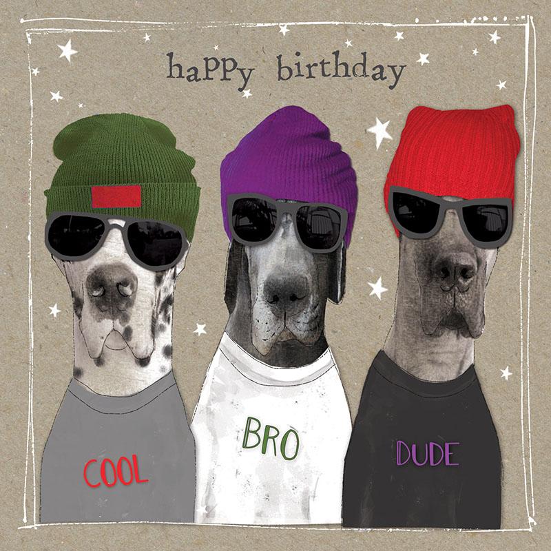 Rođendanska Čestitka FANCY PANTS THREE GANG DOGS