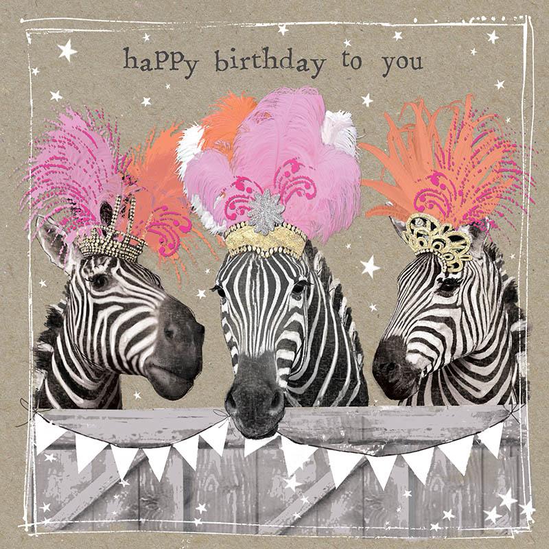 Rođendanska Čestitka FANCY PANTS THREE LADY ZEBREW
