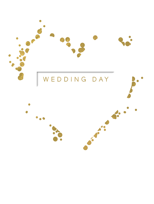 Svadbena Čestitka PURE GOLD WEDDING DAY