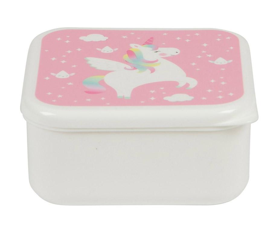 Kutija za užinu kvadratna RAINBOW UNICORN