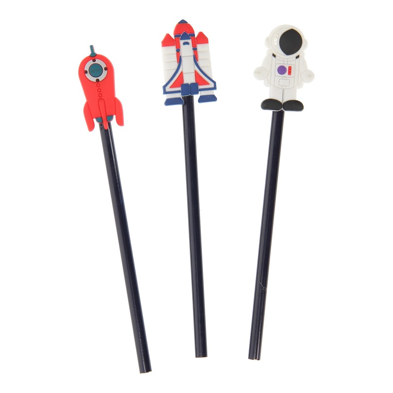 TOTAL JUGGLING SRL<br /> Grafitne olovke u obliku astronauta i rakete
