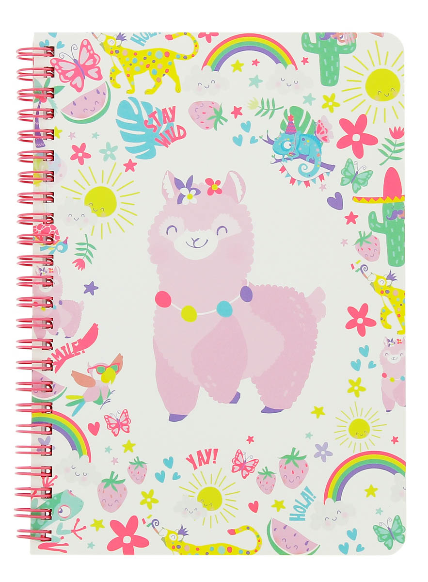 Notes sa spiralom A5 HAPPY ZOO Alpaca Party