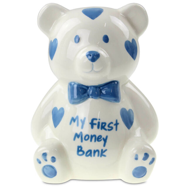 Kasica MY FIRST BANK Teddy, plava