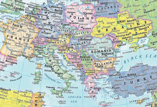 Greb-greb MAPA EVROPE Na engleskom