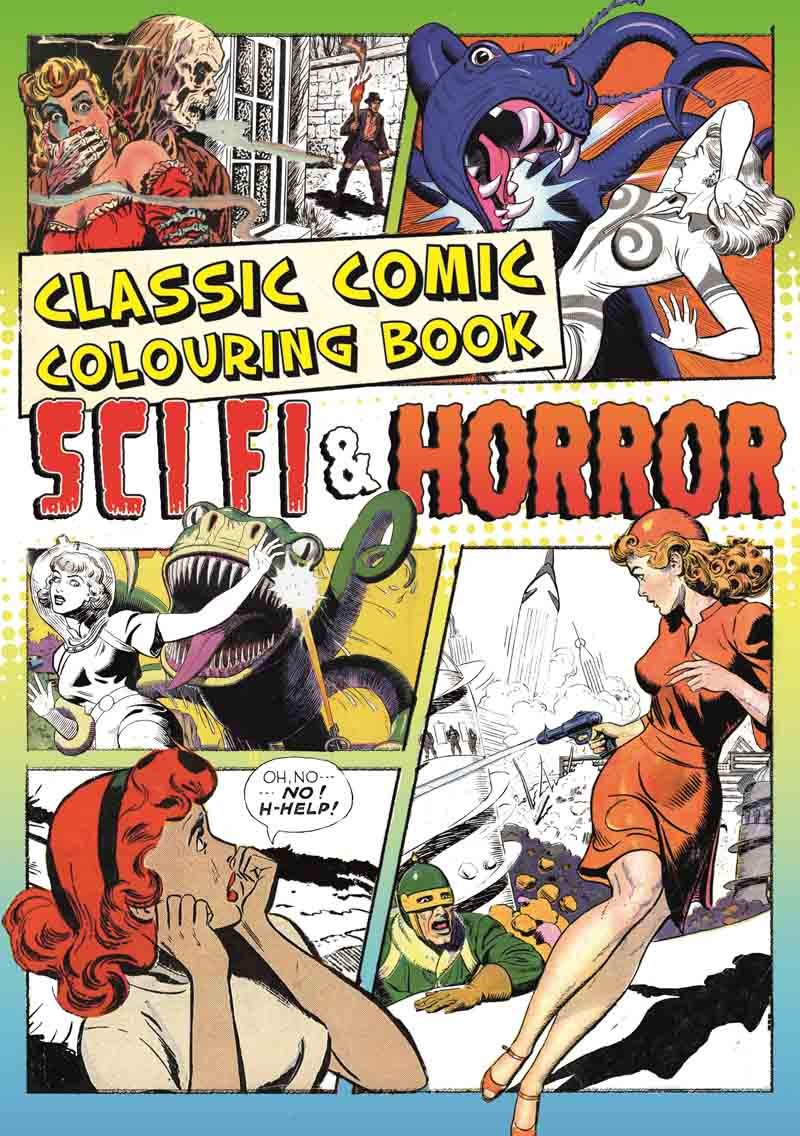 CLASSIC COMIC COLOURING BOOK SCI FI AND HORROR