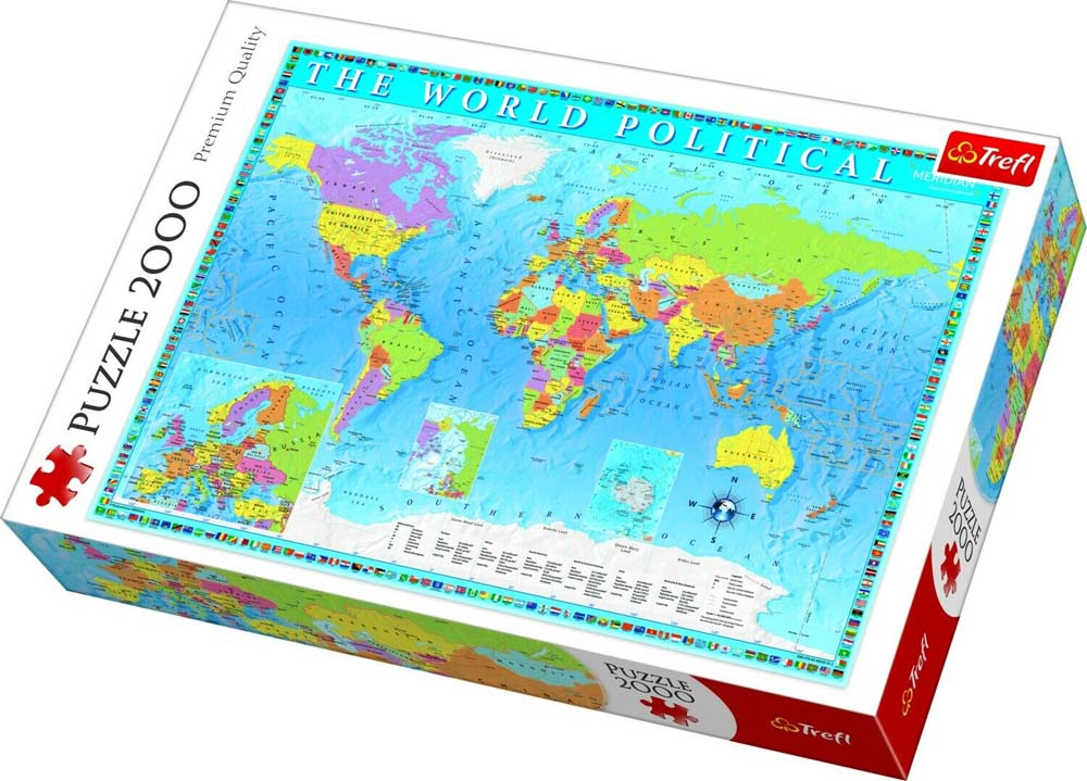 Puzzle TREFL Political Map Of The World 2000