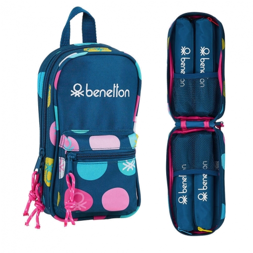 Školske Pernice PENCIL CASE BACKPACK WITH 4 EMPTY CASES BENETTON MARINO