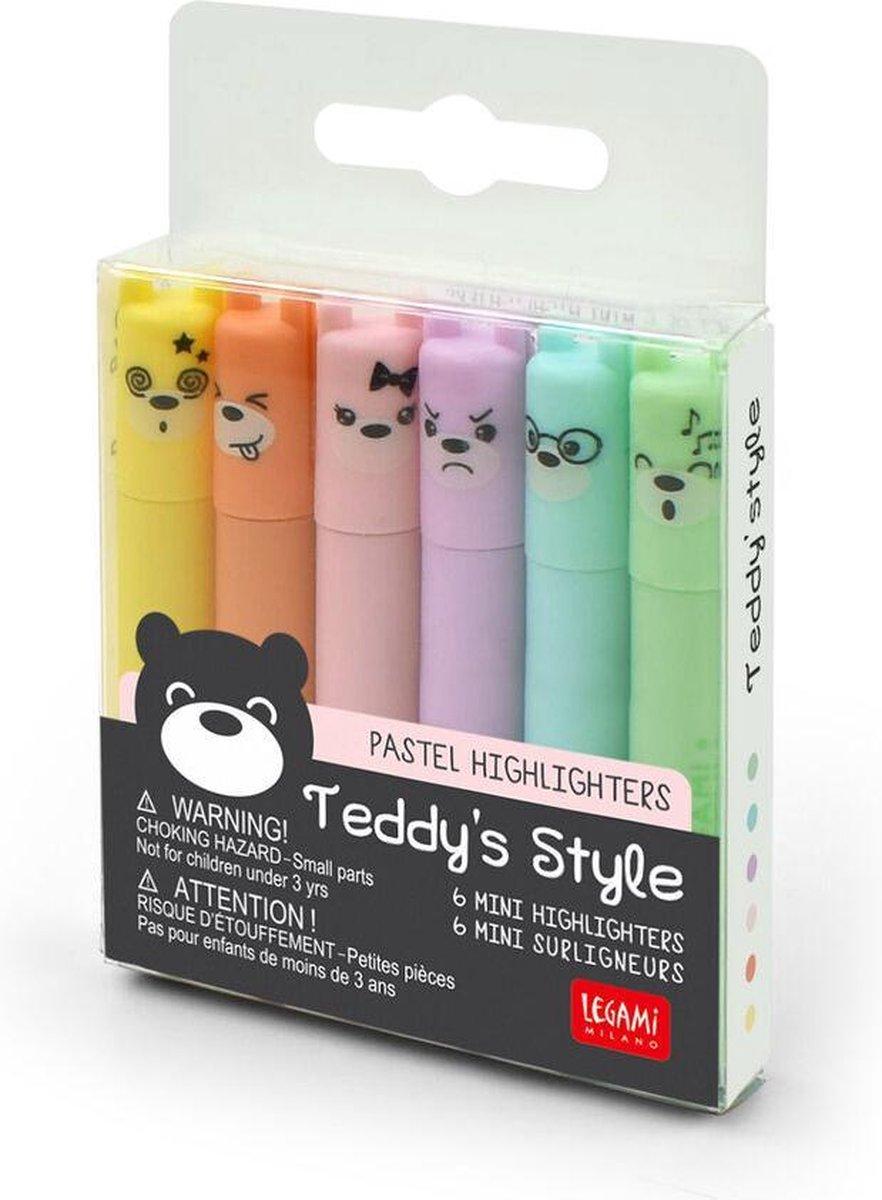 Set TEDDY S STYLE  MINI PASTEL HIGHLIGHTERS
