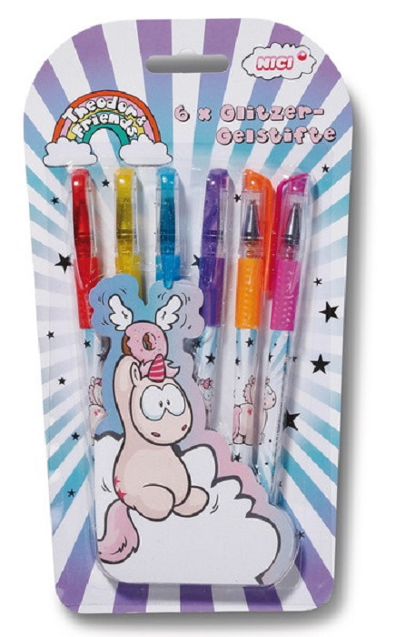 Set 6 hemijskih svetlucavih olovki THEODOR & FRIENDS