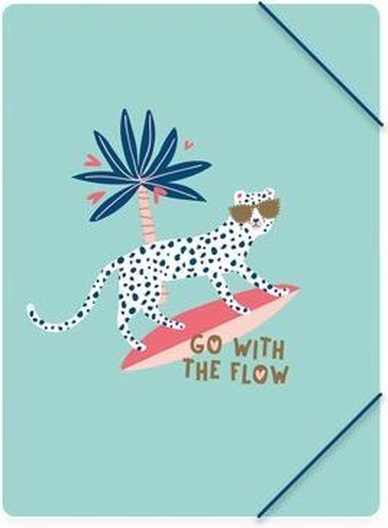 Registrator sa natpisom GO WITH THE FLOW: PP ELASTOFOLDER FSC