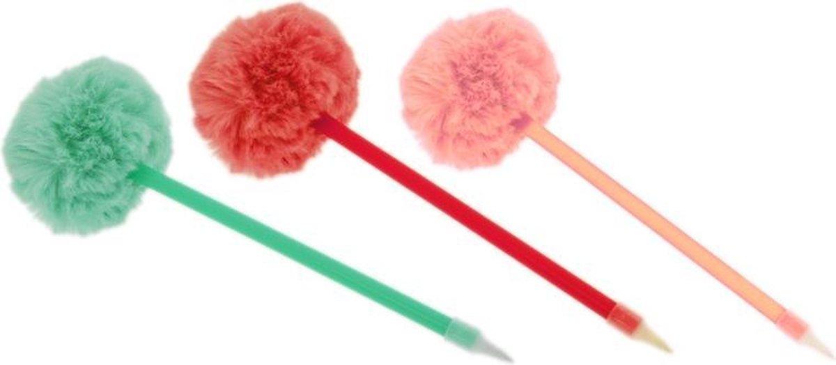 Hemijska olovka sa pufnom 3 boje