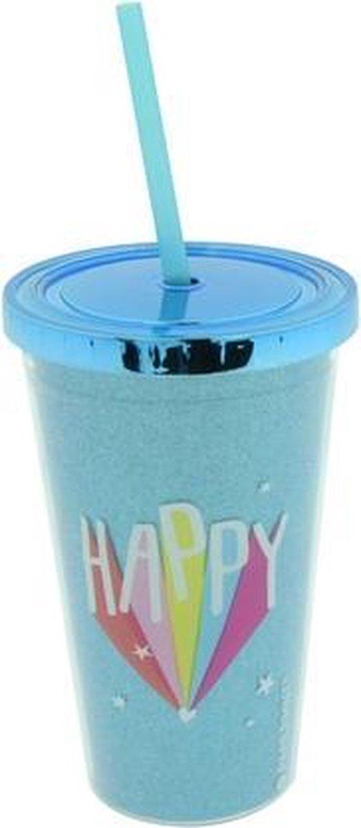 Čaša sa slamkom HAPPY