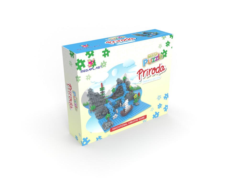 Puzzle plastične PRIRODA