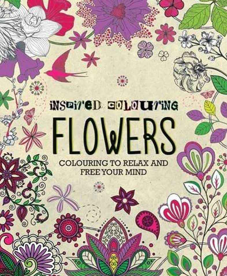 ART THERAPY Inspired Colouring Flowers