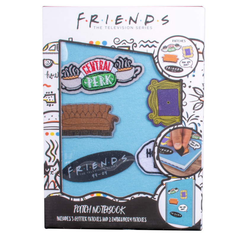 Notes A5 FRIENDS sa zakrpama