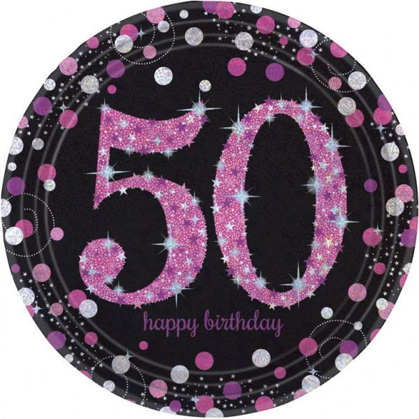 SPARKL rodjendanski tanjirići -50 PINK