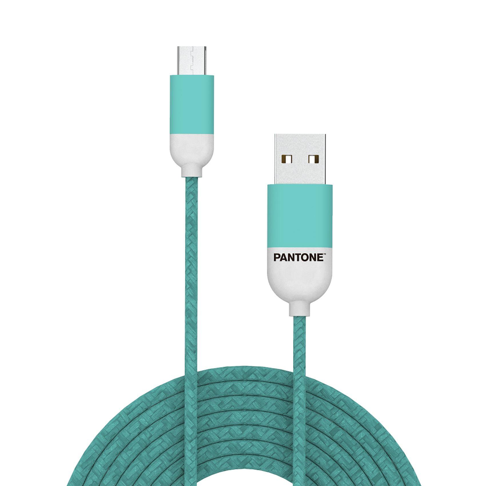 PANTONE mikro USB kabl SVETLO PLAVI