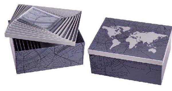 KUTIJA WORLD MAP  29 x 37 x 18cm