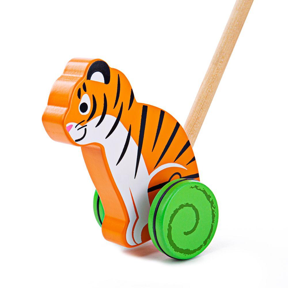 Drvena igračka guralica TIGAR