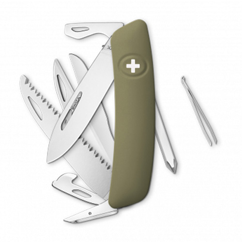 Swiza nož D10  MASLINASTI