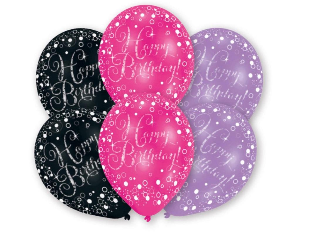 BALONI HAPPY BIRTHDAY PINK