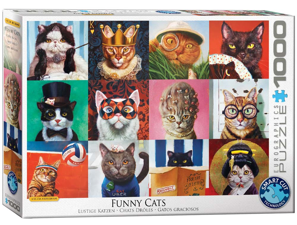 Puzzle FUNNY CATS BY LUCIA HEFFERNAN 1000 kom