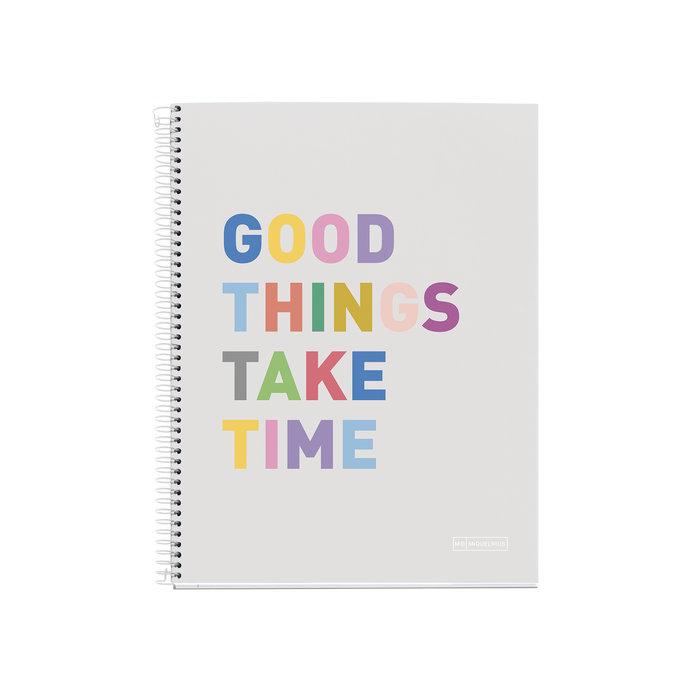 Sveska A4 - GOOD THINGS TAKE TIME