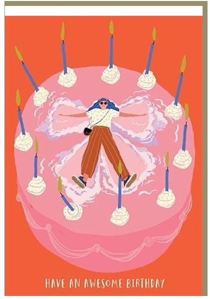 Čestitka AWESOME CAKE BIRTHDAY