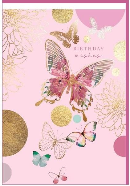 Čestitka BIRTHDAY BUTTERFLIES